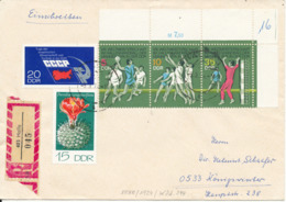Germany DDR Registered Cover Halle 5-3-1974 Topic Stamps - [6] Democratic Republic