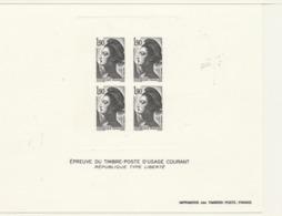 """PIA  - FRAN - 1986 : Prova Di Stampa Del Foglietto Del Francobollo  """"La Libertà""""  Di Gandon  - (Yv  2424) - Sheetlets"""