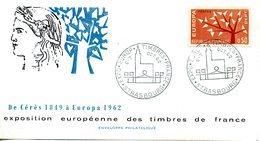 EUROPA CEPT FRANCE 1962 FDC YVERT N° 1358/59 - Europa-CEPT