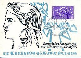 EUROPA CEPT FRANCE 1962 CARTE MAXIMUM YVERT N° 1358/59 - Europa-CEPT