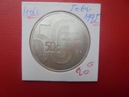 PAYS-BAS 50 GULDEN 1995 ARGENT (A.1) - [ 3] 1815-… : Regno Dei Paesi Bassi