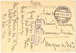FELDPOSTADRESSE Des ABSENDERS: FELDLAZARETT 10. Des 19. A.K. FELDPOST 50.Res. Div En Violet Cpa VIMY LORETTE LIÉVIN 1916 - Lille