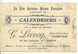 80 - AMIENS / MAISON LECOCQ - EDITIONS DE CALENDRIERS - 18 RUE LAFAYETTE - Amiens