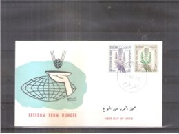 Contre La Faim - FDC Soudan - 1963 (à Voir) - Tegen De Honger