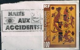 Neukaledonien 1997,Michel# 1114 O  Art: Painting (animal Heads, Stylized Sailboats) - Usati
