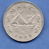Malte  -  10 Cents 1972  -  état TTB - Malta