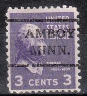 USA Precancel Vorausentwertung Preo, Locals Minnesota, Amboy 716,5 - Vereinigte Staaten