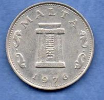 Malte  -  5 Cents 1976  -  état TTB - Malta