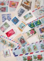 ÎLE MONTSERRAT Beau Lot Varié De 110 Enveloppes Commerciales Et Philatéliques Timbrées Air Mail Covers FDC Stamp Timbres - Montserrat