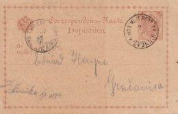 AUTRICHE  1894   ENTIER POSTAL/GANZSACHE/POSTAL STATIONERY CARTE K.U.K. MILIT.POST ZVORNIK - 1850-1918 Keizerrijk