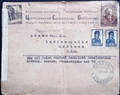 RUSSIA USSR  C.C.C.P 1945 COVER WITH LABEL GOOD POSTMARK - 1923-1991 USSR