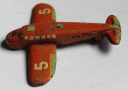 Ancien Jouet Avion Air France En Tôle Lithographiée Marque JEPJouet De Paris Unis France Années 50 - Toy Memorabilia