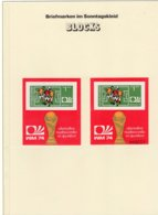 Germany WM 1974 Bulgarien Blocks 47A+B ** 85€ Fußball Bloque Hoja Soccer S/s Blocs M/s Sheets Bf Football BuULGARIA - Fußball-Weltmeisterschaft