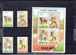 Malawi Nº 509-12 + H.B. 68 Olimpiadas, Serie Completa En Nuevo 11,50 € - Verano 1988: Seúl