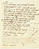 421/30 --  Document Rekening Van Joannes Minnebo , Temmerman Tot LOO CHRISTY 1777 - Van Outtrive - 1 Pond 13 Schellingen - 1714-1794 (Austrian Netherlands)