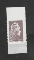 FRANCE / 2018 / Y&T N° AA 1595 ** : Marianne D'YZ (adhésif De Feuille) 0.05 € BdF Haut - état D'origine - France