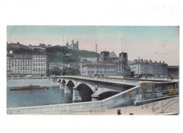 Lot 3 Cpa - Panoramique 69 LYON PONT Coteau Fourvière Affiche Fête Champêtre Théâtre GUIGNOL CHARBONNIÈRES LES BAINS - Lyon