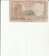 G 1 - 1 Billet  50 Francs  France - 1871-1952 Gedurende De XXste In Omloop