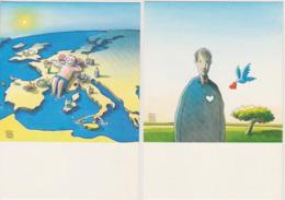 Clés Pour Europe Série Compléte 20 Cartes Zacot Serguei Selcuk Demirel JPD - CPM 10,5x15 état Luxe 1992 Neuves - Künstlerkarten