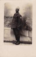 CP Photo : Portrait D'un Tirailleur Sénégalais - 1ère Guerre - War, Military