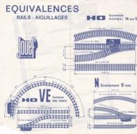 JOUEF, Divers Documents, Tarifs Trains, Wagons Et Accessoires - Vecchi Documenti
