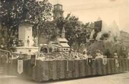 Themes Div-ref BB942 - Photo Support Cartonné - 13cms X 8,5cms - Digne 1948 -cavalcade Char Fleuri - - Digne