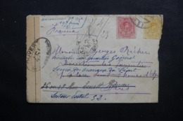 ESPAGNE - Enveloppe Pour Paris Et Redirigé Au Secteur Postal 52 Avec Contrôle Postal - L 46407 - Brieven En Documenten