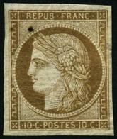 * N°1 10c Bistre - TB - 1849-1850 Cérès