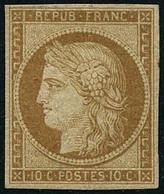 ** N°1F 10c Bistre, Réimp - TB - 1849-1850 Cérès