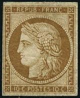 ** N°1F 10c Bistre Clair, Réimp - TB - 1849-1850 Cérès