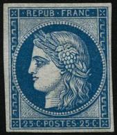 * N°4d 25c Bleu, Réimp - TB - 1849-1850 Ceres