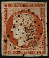 Oblit. N°5 40c Orange, Signé Calves - TB - 1849-1850 Cérès