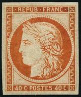 ** N°5g 40c Orange, Réimp - TB - 1849-1850 Ceres