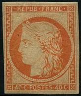 ** N°5g 40c Orange, Réimp - TB - 1849-1850 Cérès
