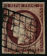 Oblit. N°6 1F Carmin Foncé - TB - 1849-1850 Ceres