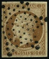 Oblit. N°9 10c Bistre, Signé Calves - TB - 1852 Luis-Napoléon