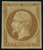 ** N°9e 10c Bistre-jaune, Réimp - TB - 1852 Luis-Napoléon