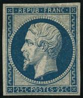* N°10c 25c Bleu, Réimp - TB - 1852 Luis-Napoléon
