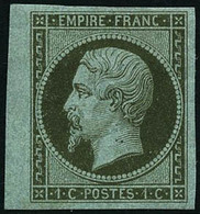 ** N°11 1c Olive, Signé JF Brun - TB - 1853-1860 Napoleon III