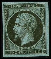 * N°11 1c Olive, Signé Roumet - TB - 1853-1860 Napoléon III