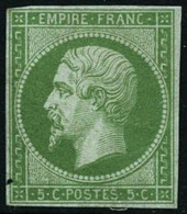 * N°12a 5c Vert Jaune - TB - 1853-1860 Napoléon III