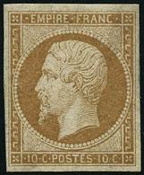 ** N°13A 10c Bistre, Type I - TB - 1853-1860 Napoléon III