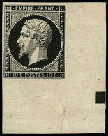 (*) N°13A 10c Type I Essai En Brun-noir Avec Carré De Repère - TB - 1853-1860 Napoleon III
