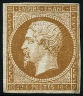 ** N°13Ab 10c Bistre Orangé, Type I - B - 1853-1860 Napoleon III
