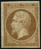 ** N°13B 10c Brun-clair, Type II - TB - 1853-1860 Napoleon III