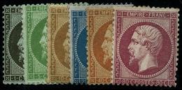 * N°19/24 Les 6 Val  - B/TB - 1862 Napoleon III