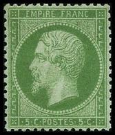 ** N°20 5c Vert, Pièce De Luxe Roumet - TB - 1862 Napoleon III
