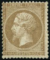 ** N°21 10c Bistre - TB - 1862 Napoleon III
