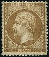 * N°21 10c Bistre, Signé Calves - TB - 1862 Napoleon III