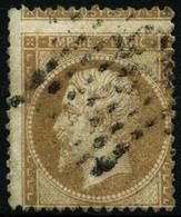Oblit. N°21 10c Bistre, Exceptionnelle Variété De Piquage - TB - 1862 Napoleon III